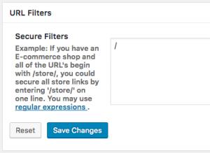 URL Filtersの設定